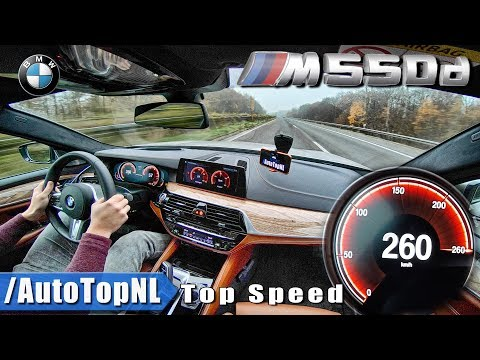 BMW M550d 5 Series G30 xDrive QUAD TURBO 0-260km/h ACCELERATION & TOP SPEED on AUTOBAHN by AutoTopNL
