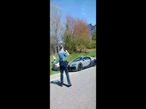 Bugatti Chiron Pur Sport crashed into girl driving Toyota Corolla on highway...