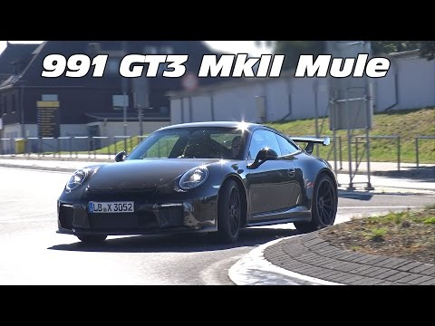 2017 Porsche 991 GT3 MKII Mule Spied on the Road!