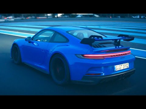 New Porsche 911 992 GT3 (2021) - EXHAUST & engine sound, PURE DRIVING at track