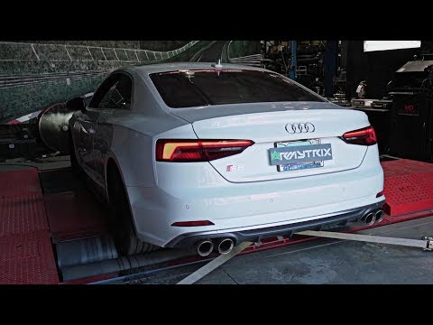 2018 Audi S5 B9 Coupe V6 Turbocharged w/ ARMYTRIX Valved Exhaust - Revs & Accelerations On Dyno!