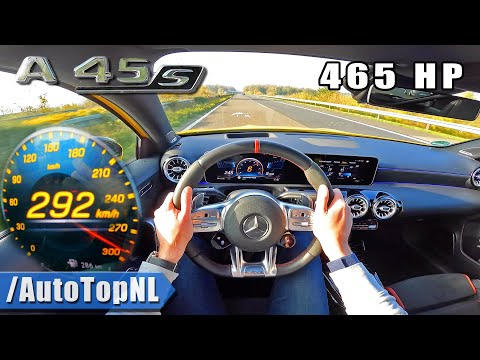 465HP Mercedes-AMG A45 S *292KMH* on AUTOBAHN [NO SPEED LIMIT] by AutoTopNL