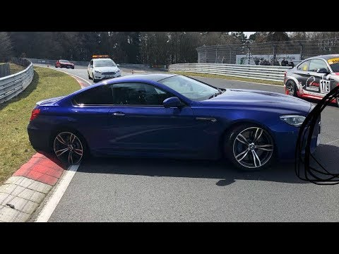 BMW M6 Loses Tyre on the Nürburgring Nordschleife!