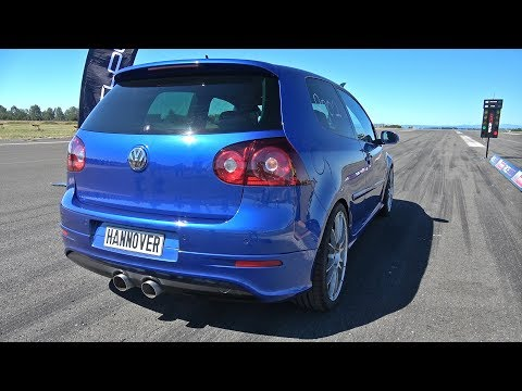800HP Volkswagen Golf 5 R32 Turbo 1/2 Mile Accelerations!