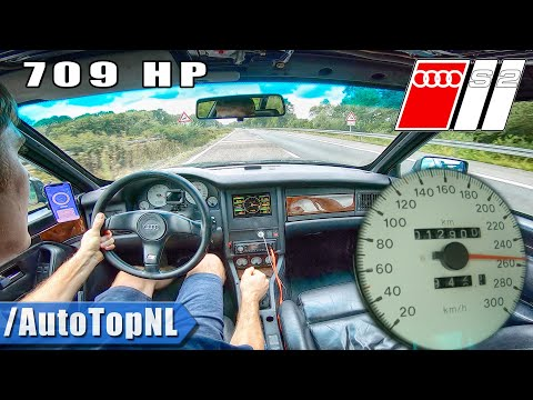 709HP AUDI S2 HUGE TURBO! on AUTOBAHN (NO SPEED LIMIT) by AutoTopNL