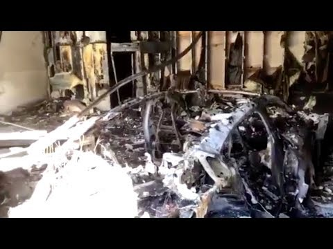 Porsche Taycan Fire and Explosion in a Florida Garage