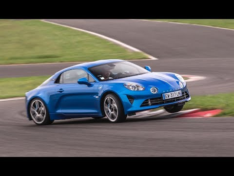 Alpine A110 drifting at Magny-Cours !