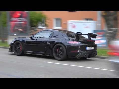 New Porsche 718 Cayman GT4 RS 2020 / 2021 - 982 series - barely disguise prototype