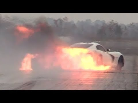 Viper Blows the Motor, Catches Fire and Crashes