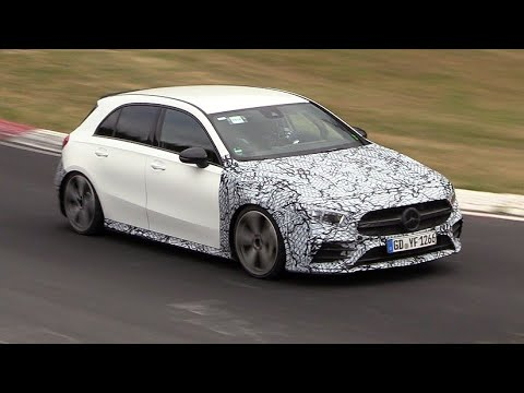 2019 Mercedes-AMG A35 - Exhaust SOUNDS on the Nurburgring!
