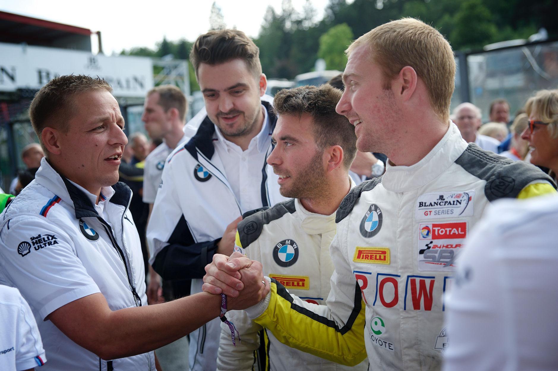 Photo de Première victoire pour Maxime Martin, Alexander Sims, Philipp Eng et ROWE Racing avec la BMW M6