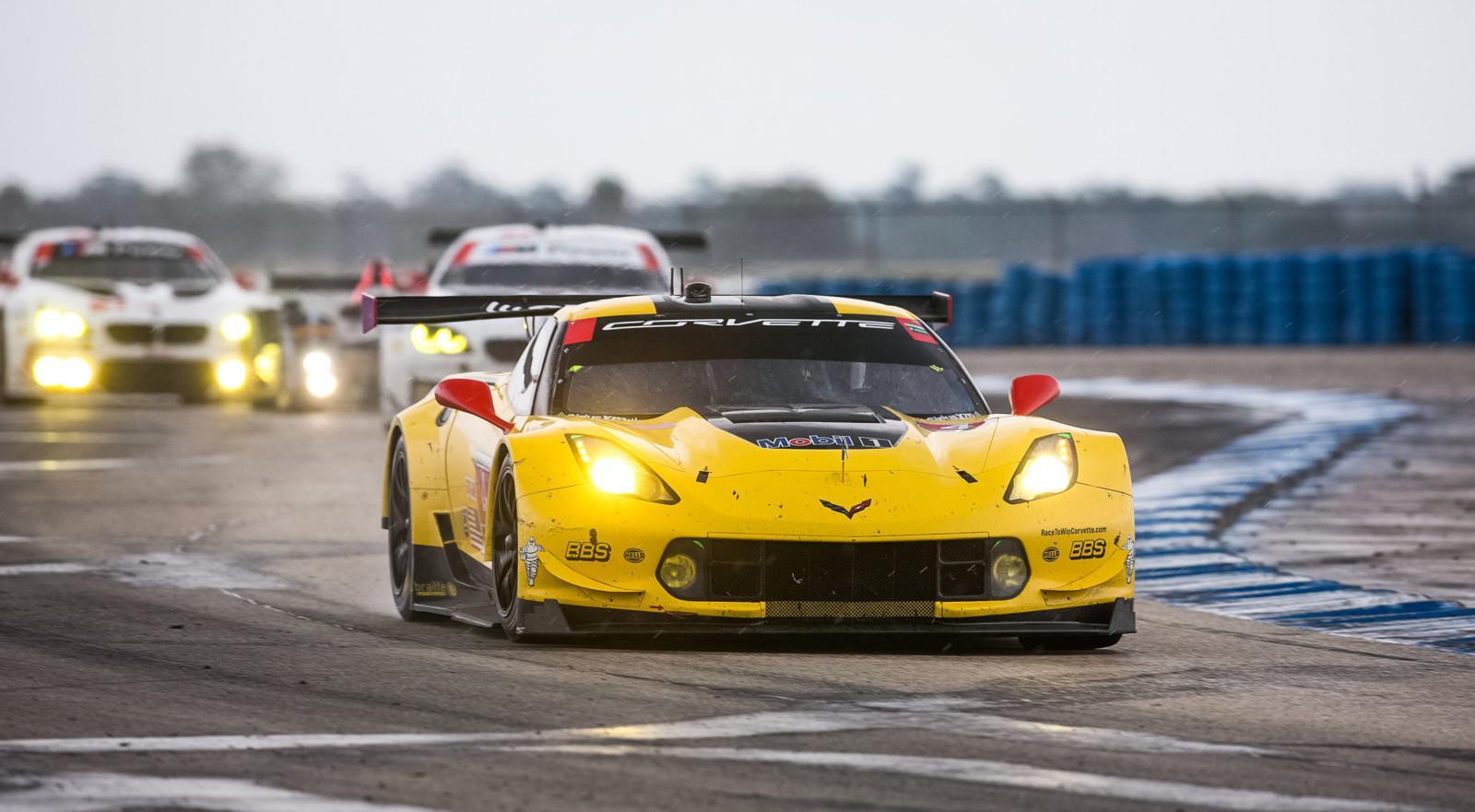Team Chevy Corvette C7.Rs Battle During 12-Hours of Sebring