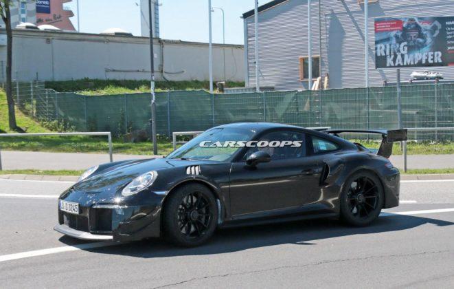 Porsche 911 GT2 Mule 6 661x420 - La future Porsche 911 GT2 RS aperçue sans camouflages