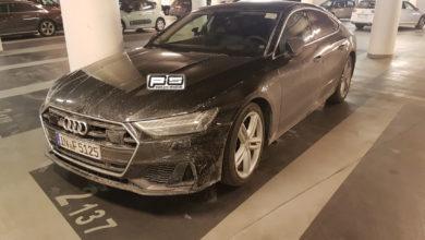 Photo de L'Audi S7 Sportback aperçue sans camouflages