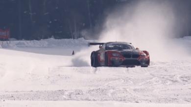 Photo de Vidéo : La BMW Z4 GT3 se reconvertit dans le pilotage sur glace