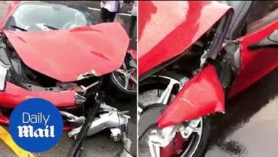 Photo de Vidéo : Elle détruit sa Ferrari 458 Italia quelques minutes après sa réception