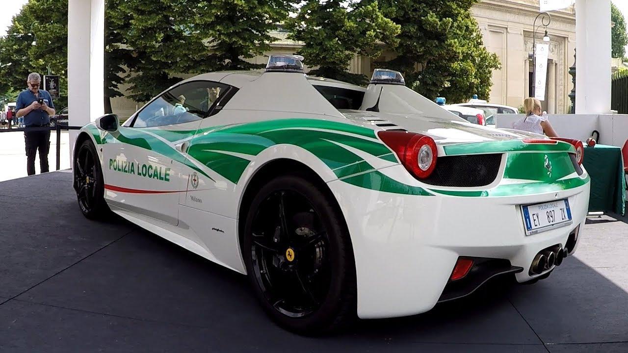 la police italienne recycle une ferrari 458 spider en voiture de police actu. Black Bedroom Furniture Sets. Home Design Ideas