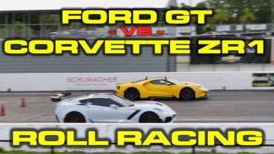 Photo de Vidéo : Quand la nouvelle Corvette ZR1 affronte la Ford GT