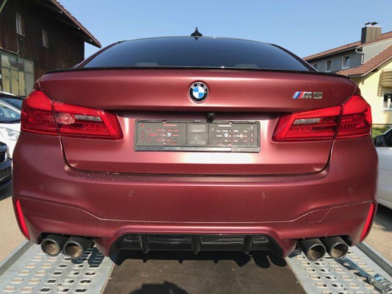 une bmw m5 2018 first edition avec 400 km au compteur pour. Black Bedroom Furniture Sets. Home Design Ideas