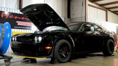 Photo de Hennessey prépare une Dodge Challenger SRT Demon à 1.013 chevaux