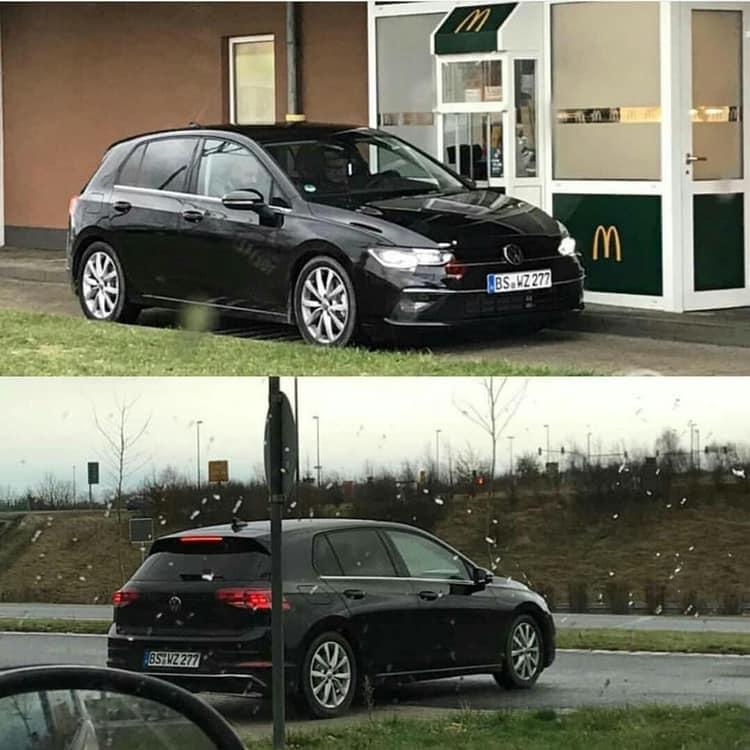 La Volkswagen Golf 8 Aperçue Au McDonald's