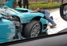 Photo de Une Koenigsegg CCXR crashée à Mexico