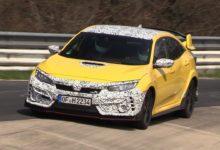 Photo de Vidéo : La Honda Civic Type R face-lift en essais sur le Nürburgring