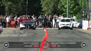 Photo de Vidéo : Une Nissan Juke laisse une Bugatti Veyron sur place !