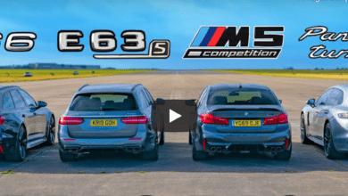 Photo de Vidéo : Que vaut l'Audi RS6 face aux Mercedes-AMG E63, BMW M5 et Porsche Panamera ?
