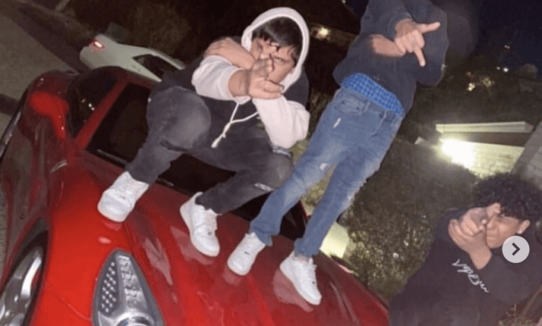 Photo de Ils causent 6000 dollars de dégâts à cette Ferrari California en montant sur son capot