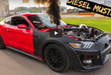 Photo de Vidéo : Il installe un moteur diesel dans sa Ford Mustang