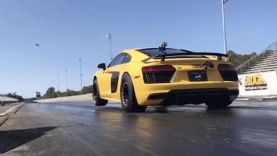 Photo de Vidéo : Une Audi R8 préparée fait le 400 mètres en 7,6 secondes !