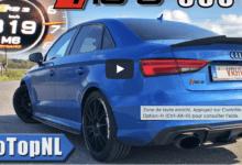 Photo de Vidéo : Cette Audi RS3 de 650 chevaux prend 300 km/h en 30 secondes