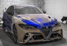 Photo de Un préparateur va proposer un kit carrosserie GTAm pour l'Alfa Romeo Giulia QV standard