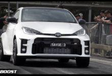 Photo de Vidéo : La Toyota GR Yaris s'envoie le 400 mètres en 12,9 secondes