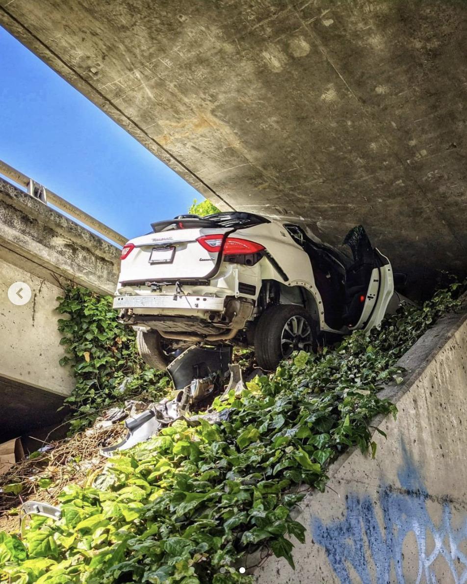 USA : Il envoie sa Maserati Levante dans le talus en voulant semer la police